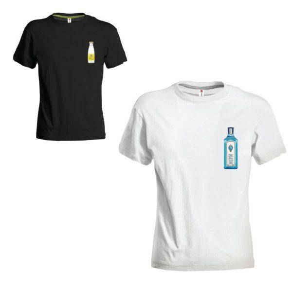 T-shirt coppia gin lemon tonic