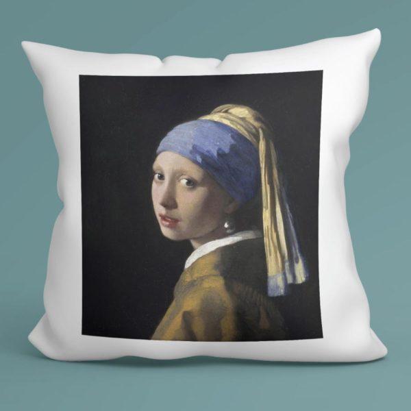 Cuscino La ragazza con l'orecchino di perla, Jan Vermeer