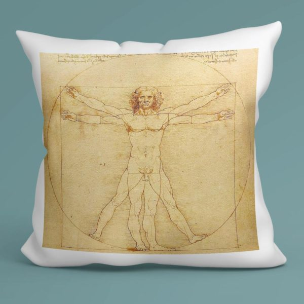 Cuscino Uomo Vitruviano, Leonardo da Vinci