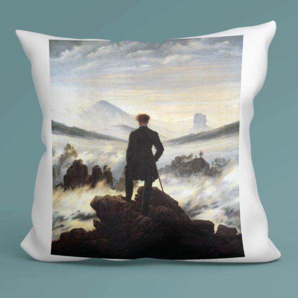 Cuscino Viandante sul mare di nebbia, Friedrich