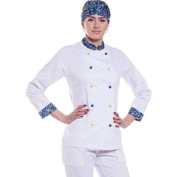 Giacca cuoco donna Viareggio