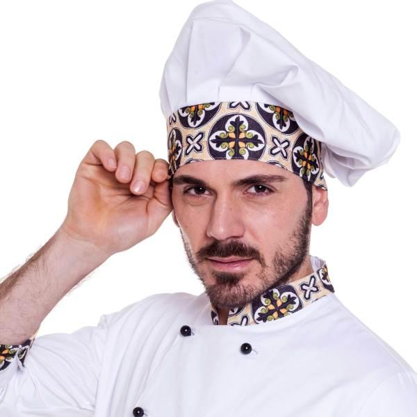 Cappello cuoco modello Positano