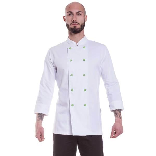 Giacca cuoco bianca cotone