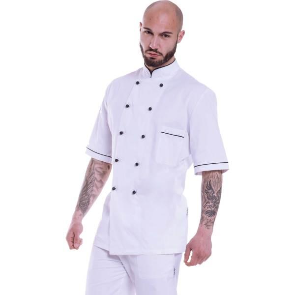 Giacca cuoco con profilo